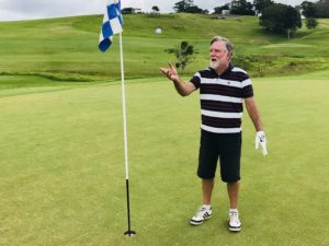 Geoff Smith celebrates his first Hole in One on the Par 3 3rd Hole at Maleny Golf Club_e