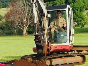 Marc on the digger